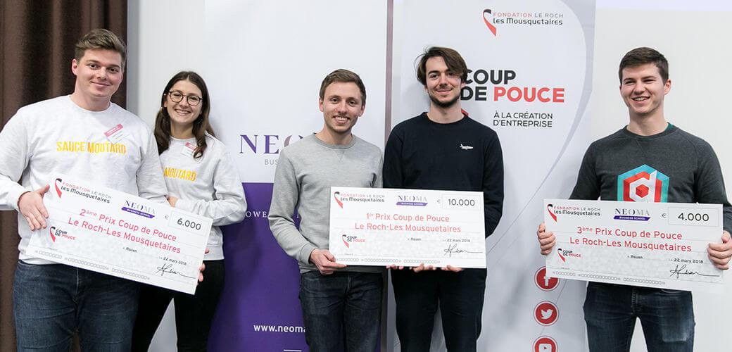KEDGE fait gagner 20K€ aux entrepreneurs grâce à la fondation Le Roch-Les Mousquetaires - KEDGE